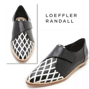 Loeffler Randall Grace Monk Strap Oxford Shoes 8